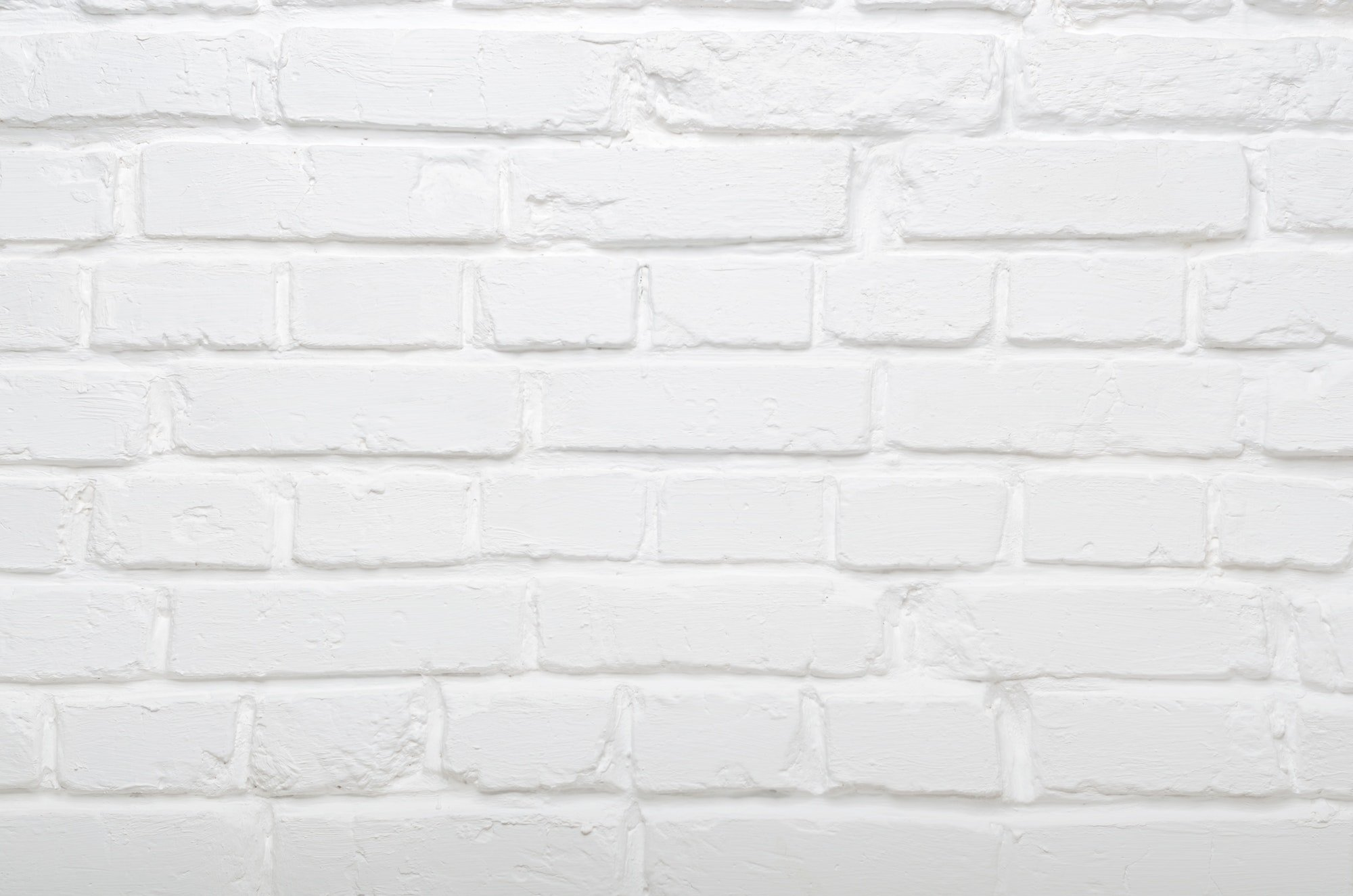 White painted authentic brick wall background